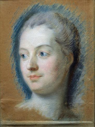 Portrait of Madame de Pompadour Giclee Print