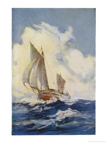 The Boat Which Joshua Slocum Rebuilt and Sailed Single- Handed Round the World 1895-1896 Giclee Print
