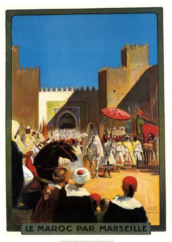 La Maroc Par Marseille Art Print