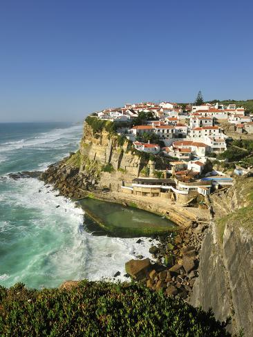 Azenhas Do Mar, Near Sintra, in Front of the Atlantic Ocean. Portugal Photographic Print