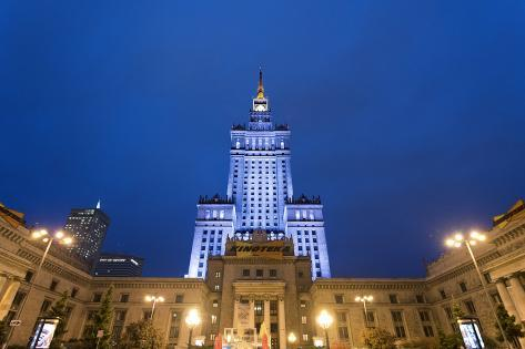 The Palace of Culture and Science, a Gift from the Ussr to Poland in 1955. Warsaw, Poland Valokuvavedos