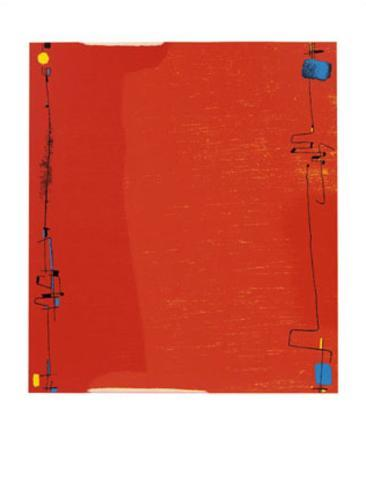 Diptychon Rot, c.1963 Serigraph