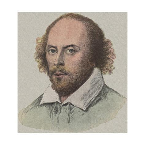 Portrait of William Shakespeare Stretched Canvas Print