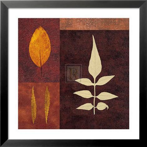 Amber Leaves II Lamina Framed Art Print