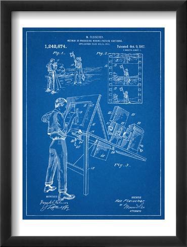 Max Fleischer Patent Framed Art Print