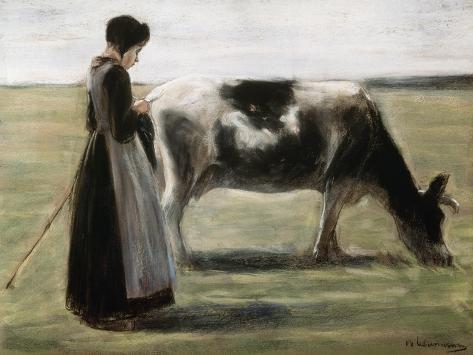 Das Madchen Mit Der Kuh Giclee Print