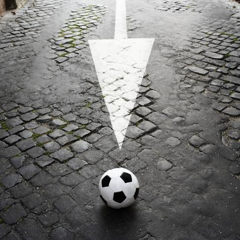 This Way to Soccer Photographic Print