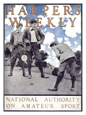 Harper's Weekly, National Authority on Amateur Sport Giclee Print