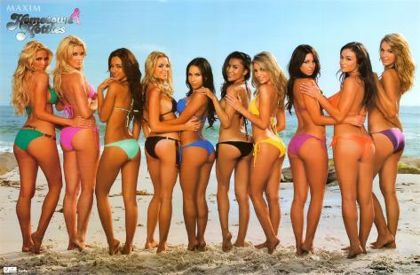 Maxim - Beach Bikinis Poster