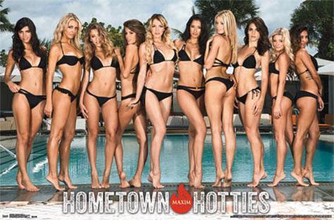Maxim Hometown Hotties Pin-up Poster