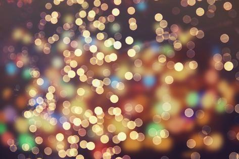 Festive Background With Natural Bokeh And Bright Golden