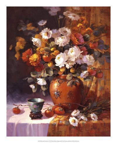 Mums and Persimmons Giclee Print