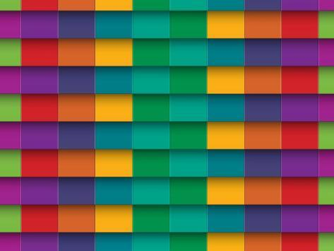 Horizontal Line Art : Colorful background with horizontal lines prints by maxmitzu at
