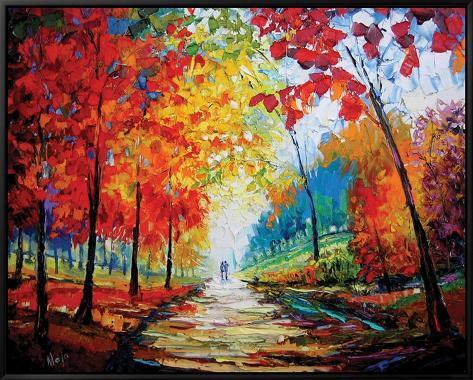 Autumn Impressions Framed Canvas Print