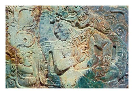 Pectoral of the King and a Courtier from Tikal Giclee Print