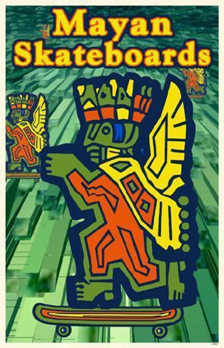 Mayan Skateboards Masterprint