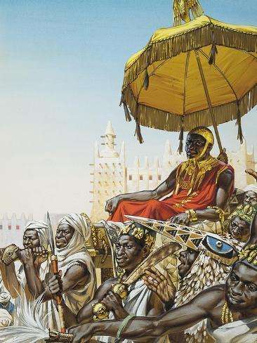 Mansa Kankan Musa I, 14th Century King of the Mali Empire Giclee Print