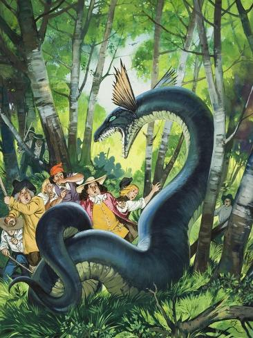 The Dragon of Birchwood Giclee Print