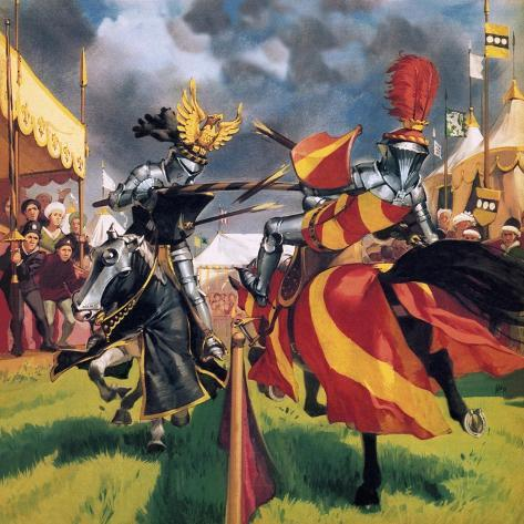 The Pastimes of Our Ancestors: When Knights Were Bold Giclee Print