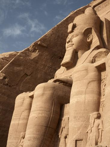 Colossal Statue of Ramses II Sits at the Entrance to the Great Temple of Abu Simbel, Egypt Photographic Print