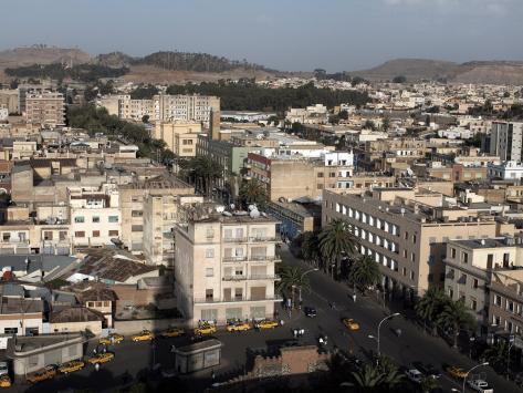 Overlooking the Capital City of Asmara, Eritrea, Africa Photographic Print