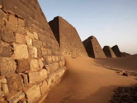 Pyramids of Meroe, Sudan's Most Popular Tourist Attraction, Bagrawiyah, Sudan, Africa Photographic Print