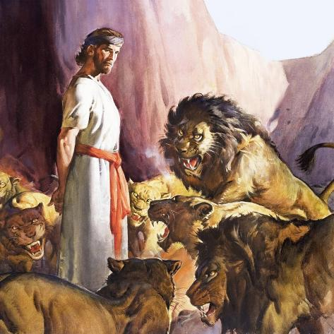 daniel in the lions den giclee print