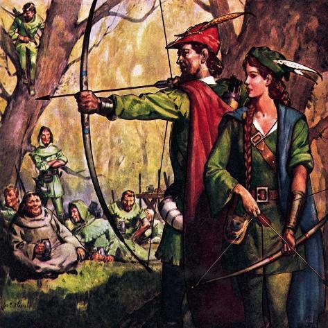 Robin Hood and Maid Marian Giclée-vedos