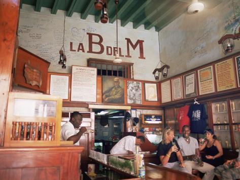 Bodegita Del Medio, One of Havana's Oldest Bars, Havana, Cuba Photographic Print