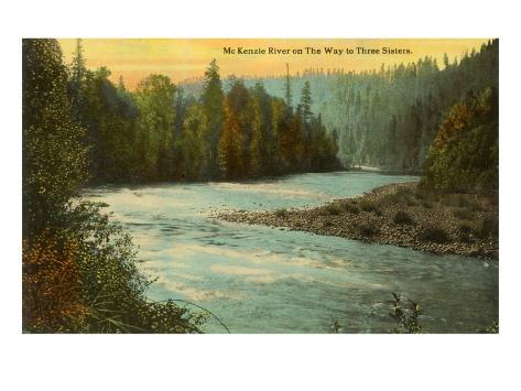 McKenzie River, Oregon Art Print