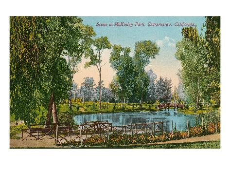 Mckinley Park, Sacramento, California Premium Giclee Print