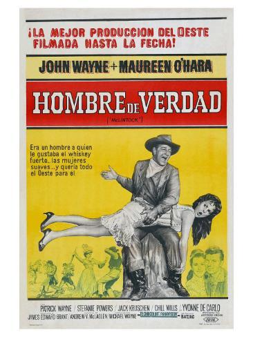 McLintock, Argentine Movie Poster, 1963 Impressão artística