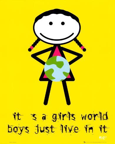 Me 3 (It's a Girls World) Art Poster Print Mini Poster
