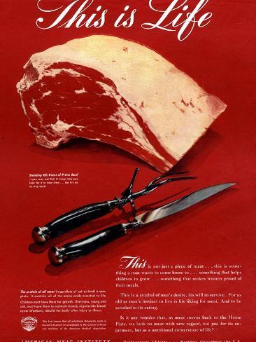 Meat, USA, 1940 Giclee Print