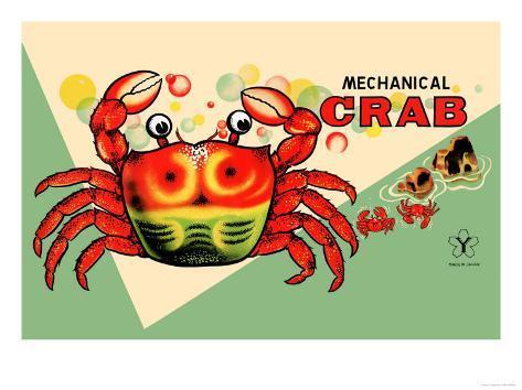 Mechanical Crab Art Print