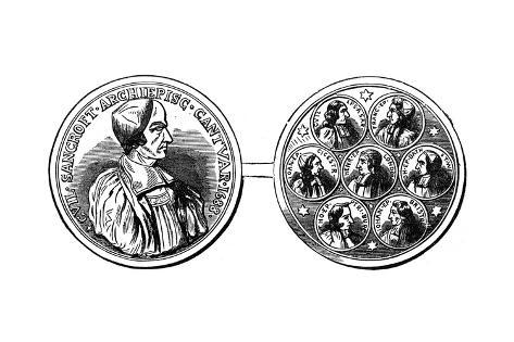 Medal of the Seven Bishops, 18th Century Lámina giclée