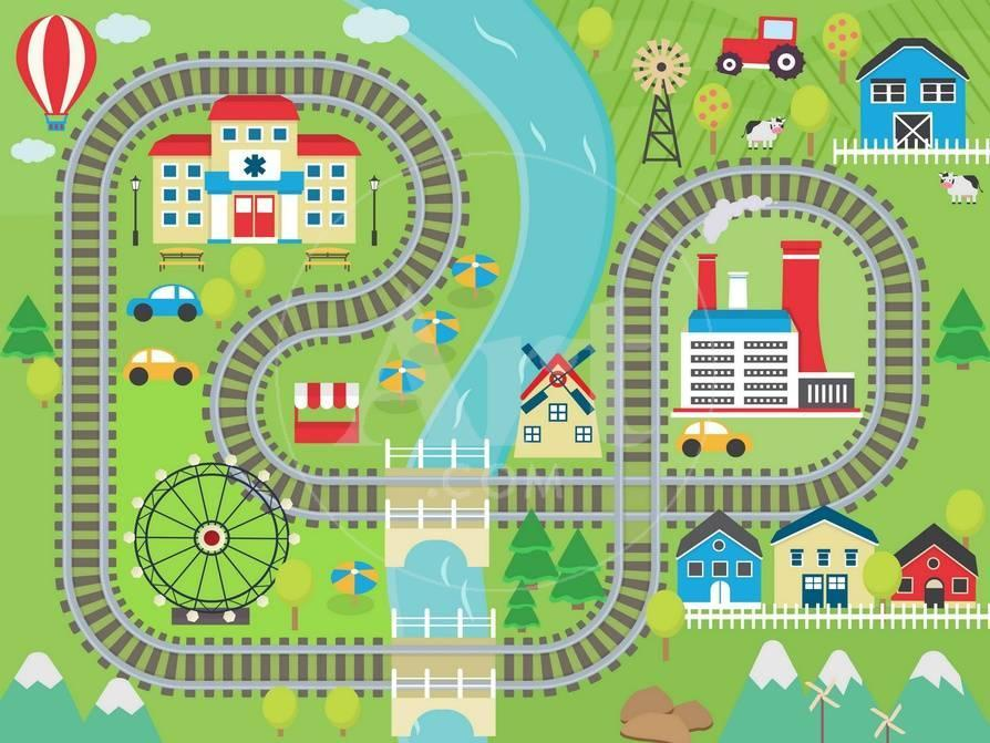 decorative play mat.htm lovely city landscape train track play mat for children activity  landscape train track play mat