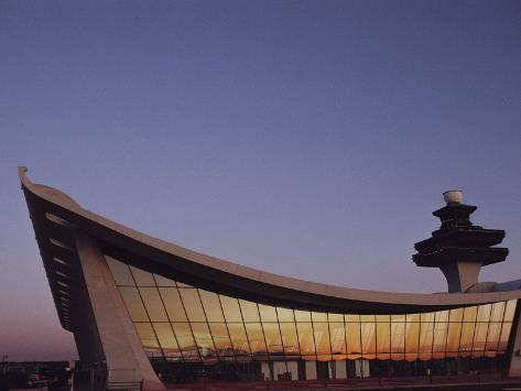 A Twilight View of Dulles International Airport Near Washington, D.C. Photographic Print