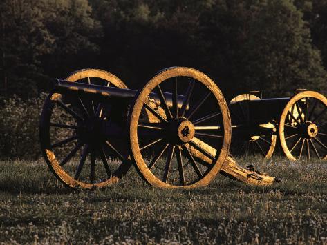 Civil War Cannon and Caisson, Manassas National Battlefield, Virginia Photographic Print