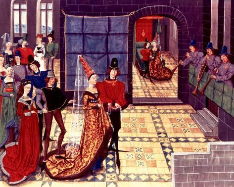Medieval Court of the King Reproducción de lámina sobre lienzo