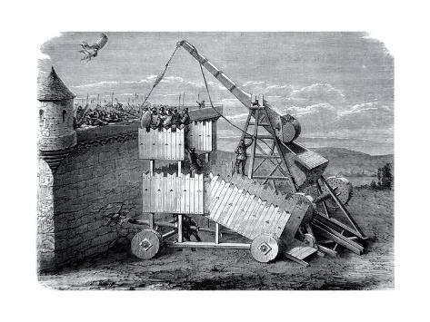 Medieval Seige or Sling Machine Giclee Print
