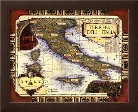 Medium Wine Map I Framed Art Print