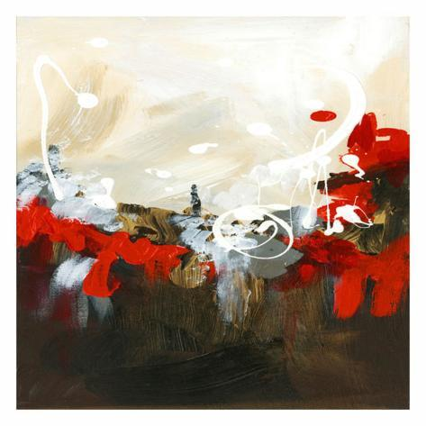 Red Abstract Art Print