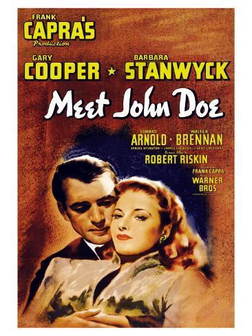 Meet John Doe, 1941 Art Print