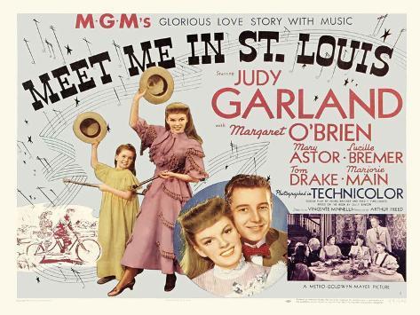Meet Me in St. Louis, UK Movie Poster, 1944 Art Print