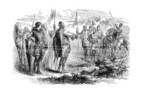 Meeting of Stephen and Prince Henry at Wallingford, Oxfordshire, 1153 Giclee Print