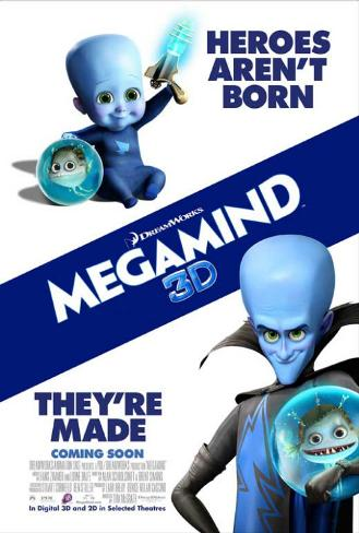 Megamind - Heroes Aren't Born, They're Made Stampa master