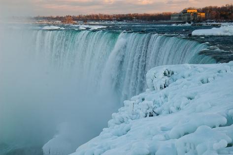 Wintertime at Niagara Falls Photographic Print