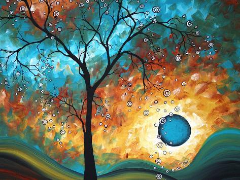 Aqua Burn Art Print