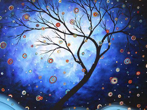 Blue Cascade Art Print